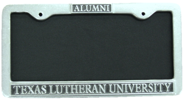 Alumni Pweter License Plate Cover