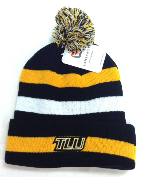 Logofit Striped Stocking Cap With Bobble
