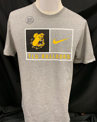 Nike TLU Bulldogs Partition Dri-Fit Cotton Tee