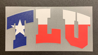 Angelus Tlu Texas Flag Print Decal