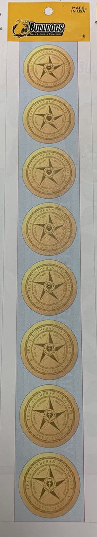 Angelus Tlu Seal Gold Foil Stamps