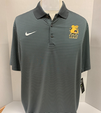 Nike Stadium Stripe Mens Polo Dark Gray
